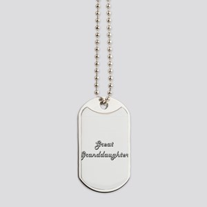 Great Granddaughter Classic Retro Design Dog Tags