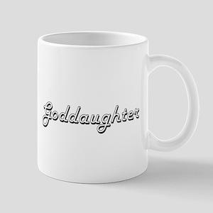 Goddaughter Classic Retro Design Mugs