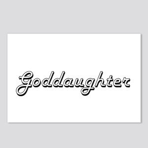 Goddaughter Classic Retro Postcards (Package of 8)