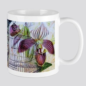 paris orchid birdcage peacock Mugs