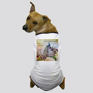 paris orchid birdcage peacock Dog T-Shirt