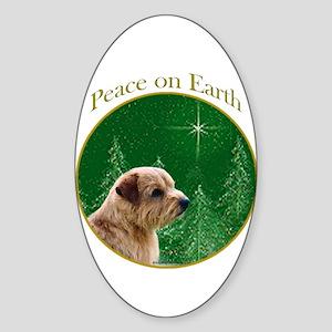 Norfolk Peace Oval Sticker