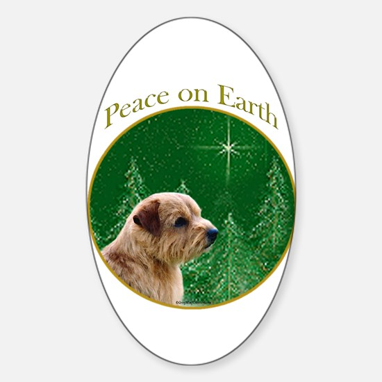 Norfolk Peace Oval Decal