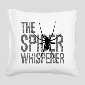 The Spider Whisperer Square Canvas Pillow
