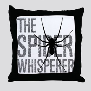 The Spider Whisperer Throw Pillow