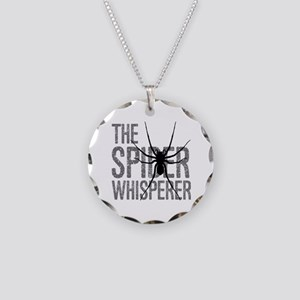 The Spider Whisperer Necklace Circle Charm