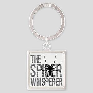 The Spider Whisperer Square Keychain