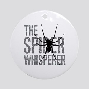 The Spider Whisperer Round Ornament