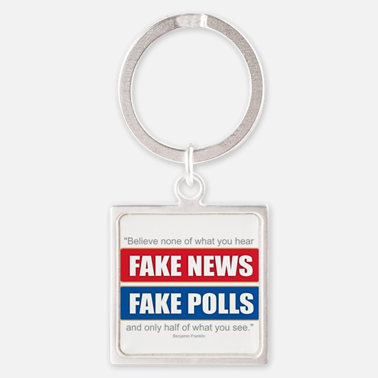Fake News - Franklin Quote Keychains