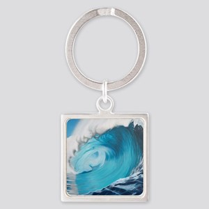 New Wave by Alexa's Makin' Waves Square Keychain
