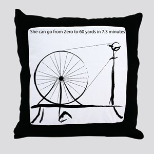 0_to_60blck2 Throw Pillow