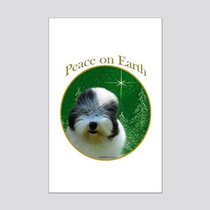 Old English Peace Mini Poster Print