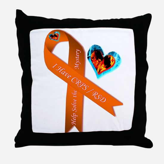 I Have CRPS Solve the Mystery Ribbon Throw Pillow