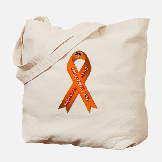I have CRPS Fire & Ice Heart Ribbon Tote Bag