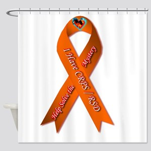 I have CRPS Fire & Ice Heart Ribbon Shower Curtain