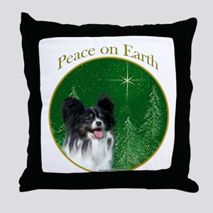 Papillon Peace Throw Pillow