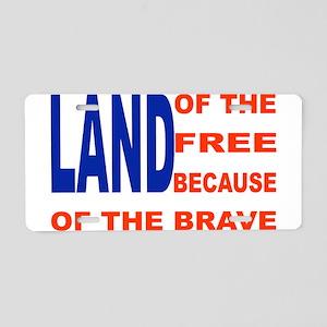 Brave Flag Aluminum License Plate