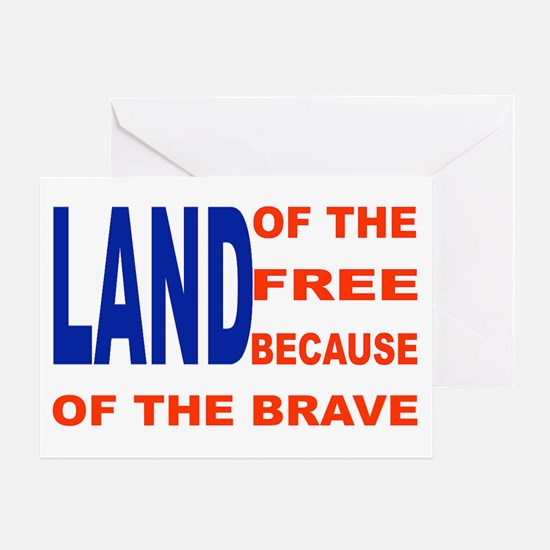 Brave Flag Greeting Cards