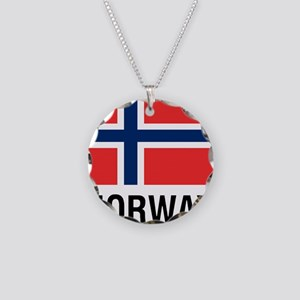 FLAG of NORWAY Necklace Circle Charm