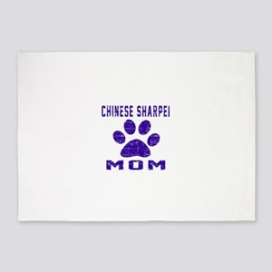 Chinese Sharpei mom designs 5'x7'Area Rug