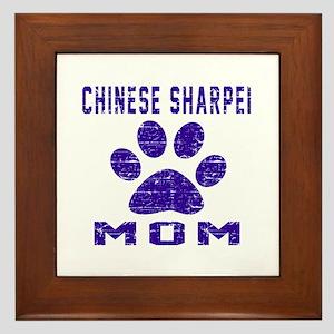 Chinese Sharpei mom designs Framed Tile