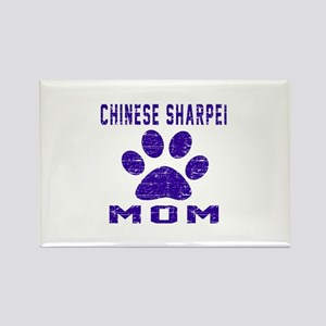 Chinese Sharpei mom designs Rectangle Magnet