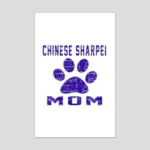 Chinese Sharpei mom designs Mini Poster Print