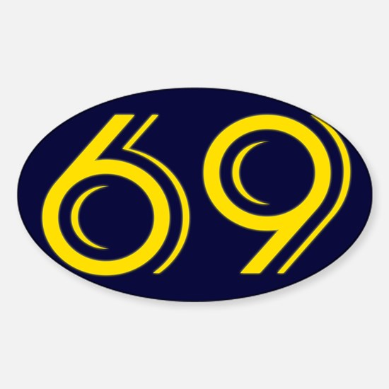 SIXTY NINE Seaside Navy Blue Decal