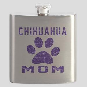 Chihuahua mom designs Flask