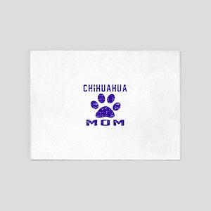 Chihuahua mom designs 5'x7'Area Rug