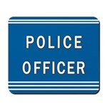Police Officer Blues Mousepad