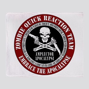 Zombie Quick Reaction Team Throw Blanket