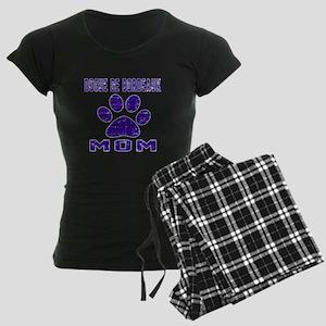 Dogue de Bordeaux mom design Women's Dark Pajamas