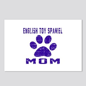 English Toy Spaniel mom d Postcards (Package of 8)