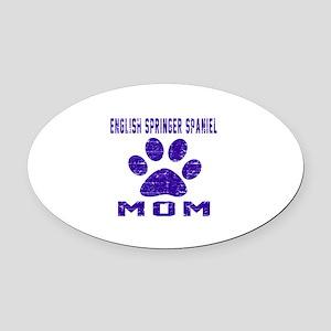 English Springer Spaniel mom desig Oval Car Magnet