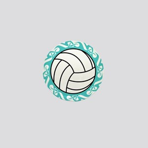 tribal volleyball Mini Button