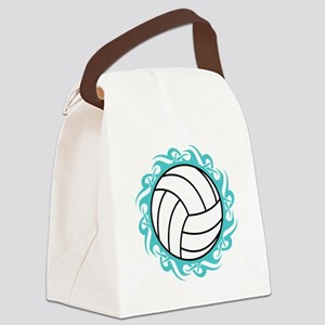 tribal volleyball Canvas Lunch Bag