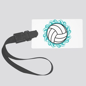 tribal volleyball Luggage Tag