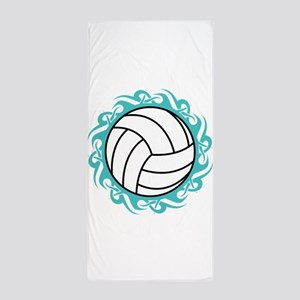 Tribal Volleyball Beach Towel