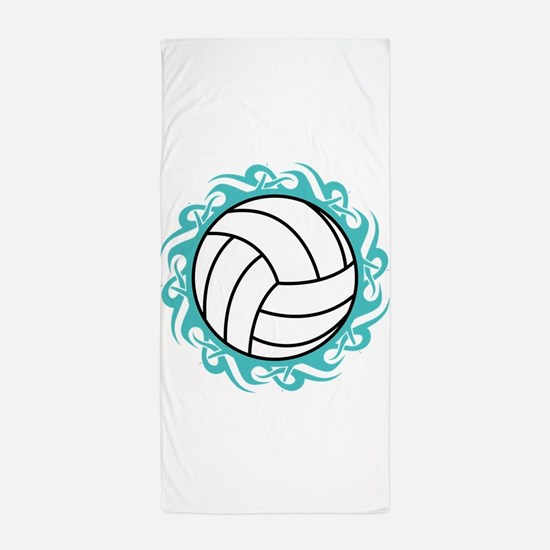 tribal volleyball Beach Towel