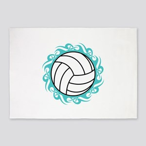 tribal volleyball 5'x7'Area Rug