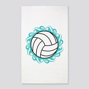 tribal volleyball Area Rug