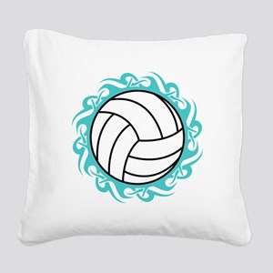 tribal volleyball Square Canvas Pillow
