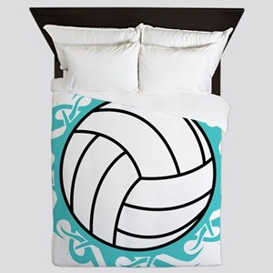 tribal volleyball Queen Duvet