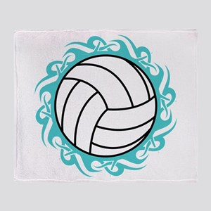tribal volleyball Throw Blanket