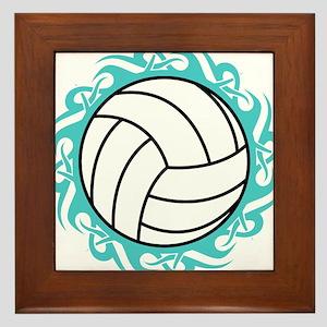 tribal volleyball Framed Tile
