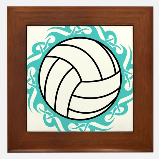 tribal volleyball Framed Tile