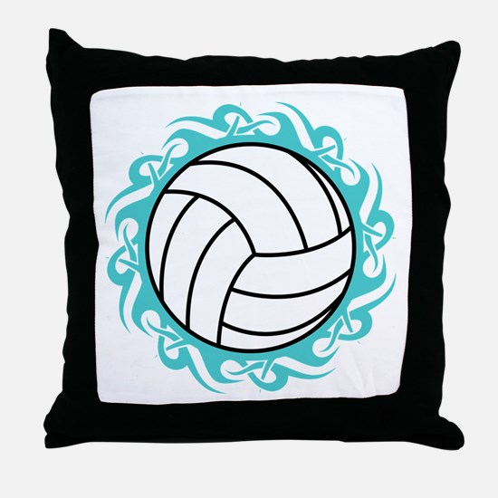 tribal volleyball Throw Pillow