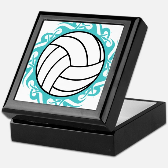 tribal volleyball Keepsake Box