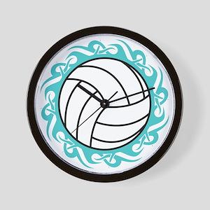 tribal volleyball Wall Clock